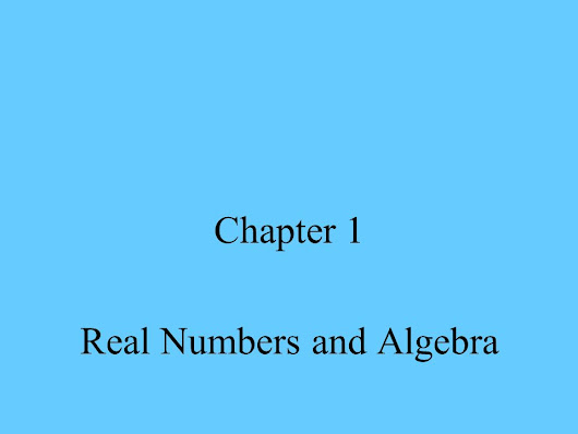 Real Numbers and Algebra -  ppt download