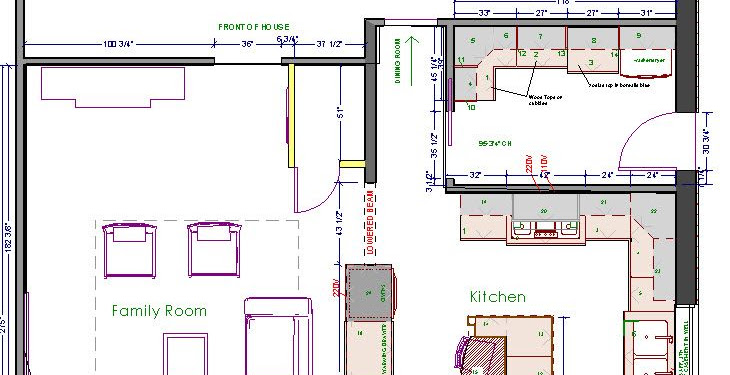 Kitchen Floor Plans With Large Island