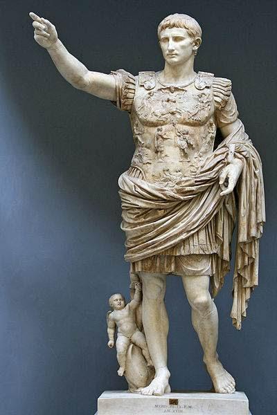 Augusto (Cayo Octavio Turino) fue el primer emperador romano. Gobernó entre 27 a.C. y 14 d.C., año de su muerte, convirtiéndose así en el emperador romano con el reinado más prolongado de la historia.