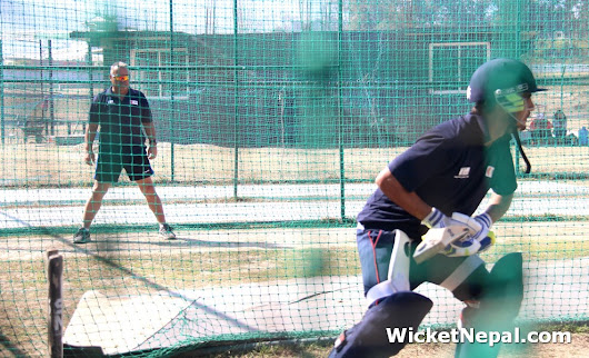 Nepal Cricket Team training with Dav Whatmore in Nets