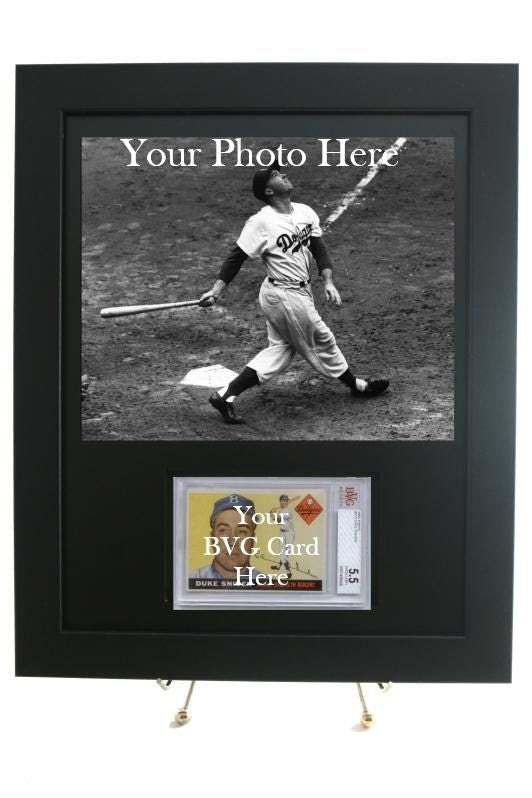Sports Card Frame For A Bvg Beckett Graded Horizontal Card With An 8