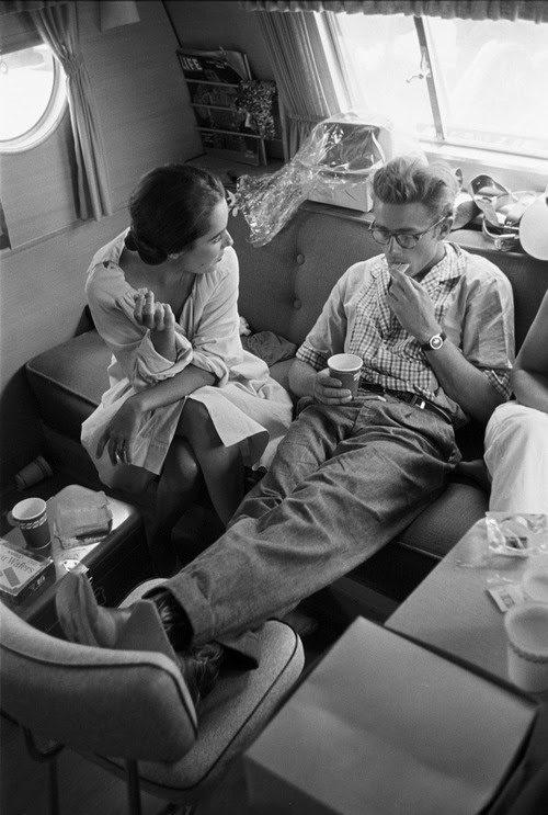 James Dean & Liz Taylor by Richard Miller