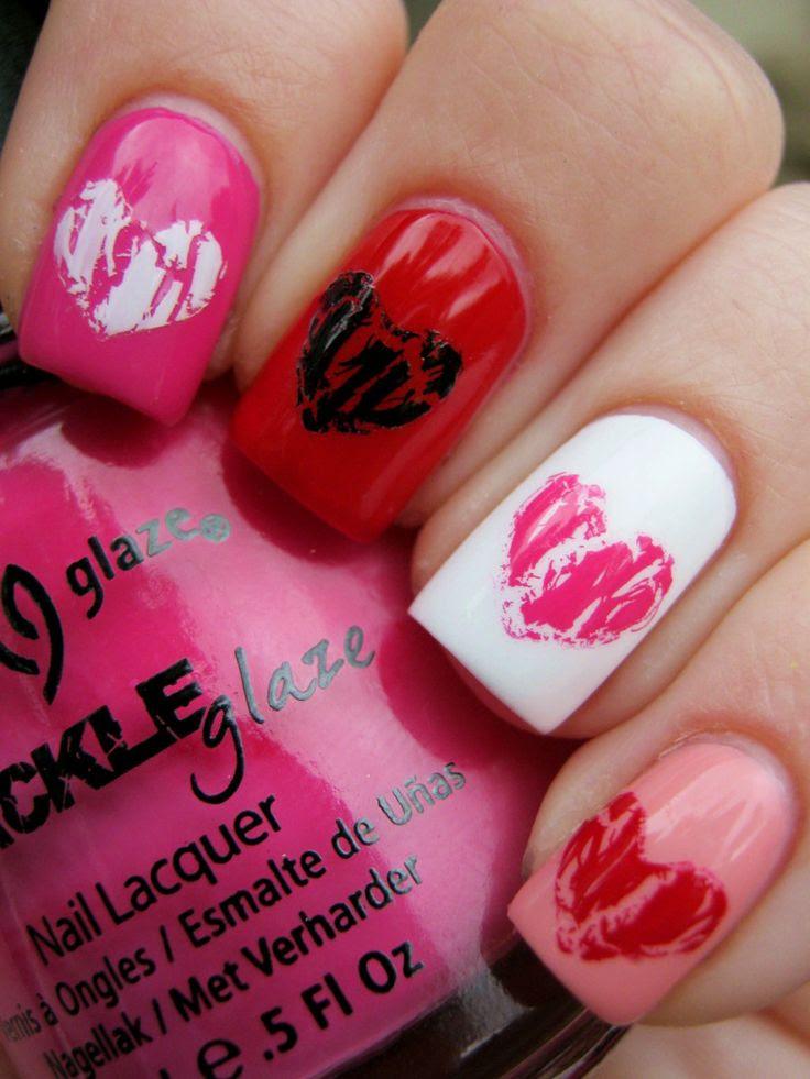 Romantic Valentine Nail Art Designs & Ideas for Valentine ...