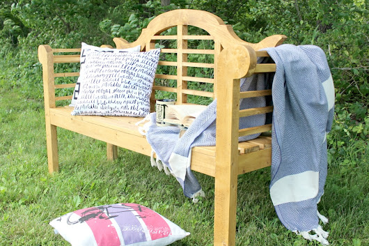DIY Lutyens Outdoor Garden Bench