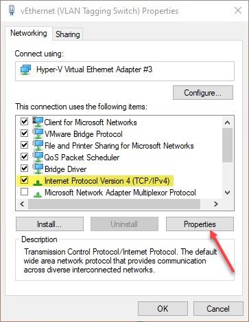Windows 10 Network Ethernet Order Configuration