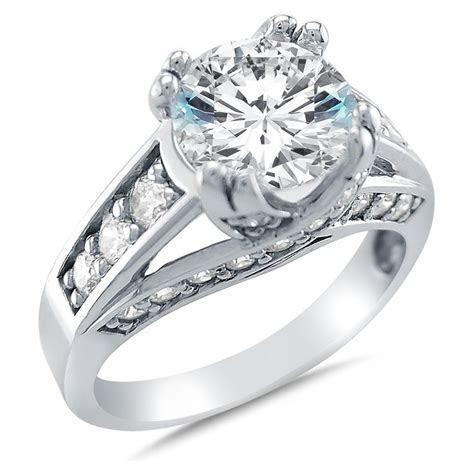 Cubic Zirconia White Gold Wedding Rings Cheap Navokalcom