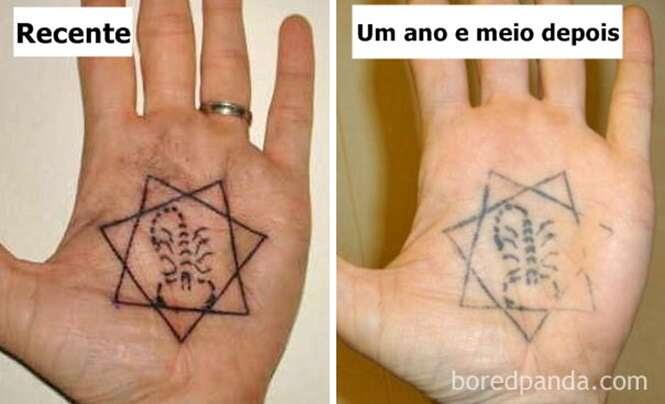 Pensando em fazer tatuagem? Fotos mostram como elas ficam com o avançar do tempo