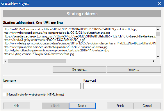 Download images from URL lists - fusker links downloader