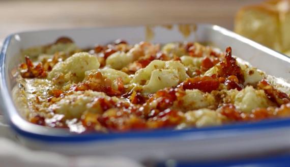 James Martin cauliflower cheese with maple syrup pancetta ...