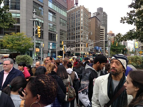 The line to see Discovering Columbus