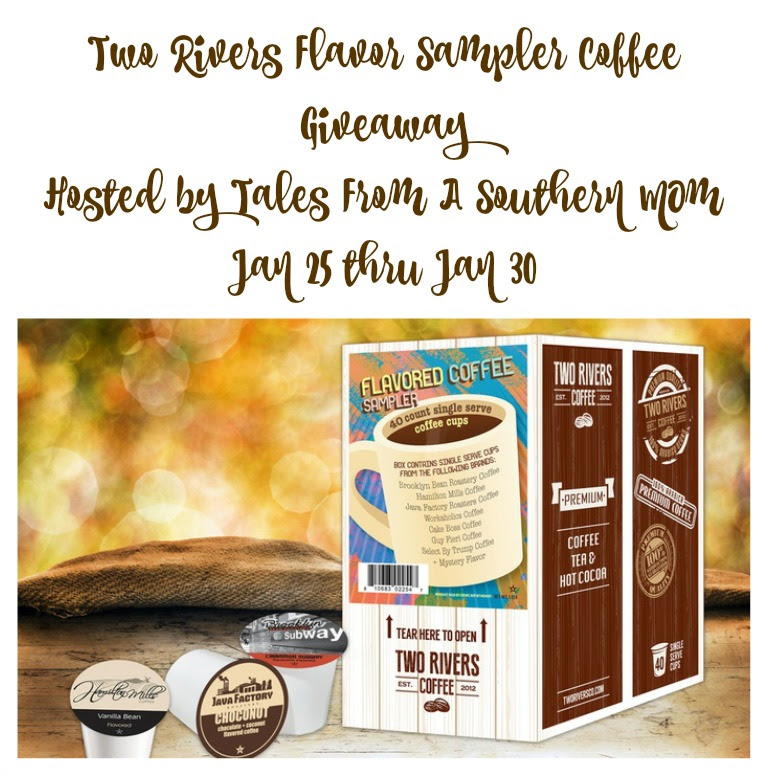 Enter the Two Rivers Flavor Sampler Coffee Giveaway. Ends 1/30