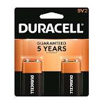 Duracell MN1604B2Z 9 Volt Duracell Coppertop Alkaline Batteries 2 Count