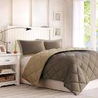"""Comfort Classics Larkspur Comforter Set, Twin/Twin XL, Brown/Sand"