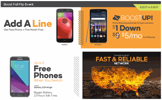 Get A Free Moto E4 And Free Month Of Service From Boost Mobile When You Add A Line - BestMVNO