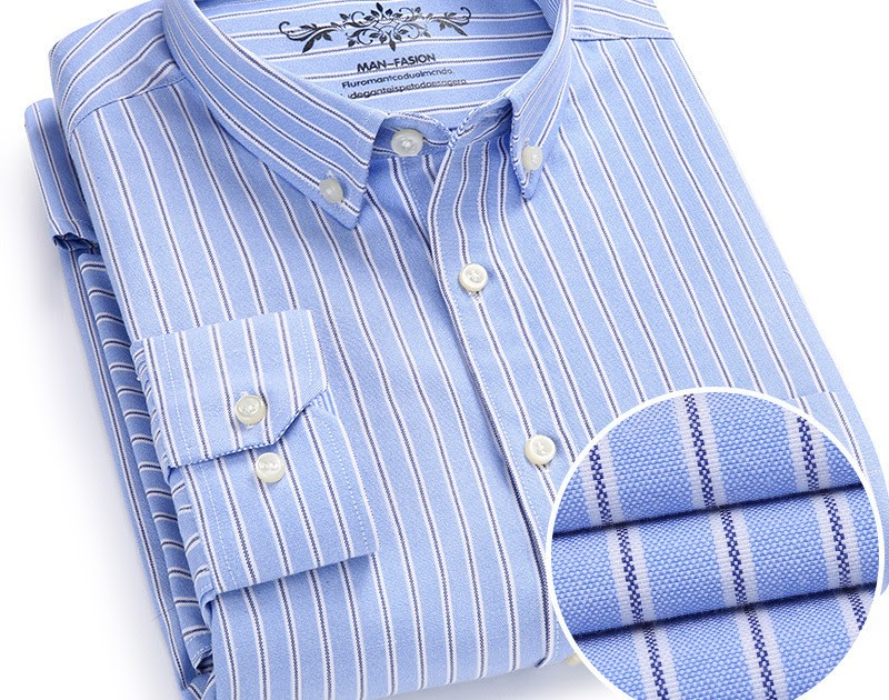 6f1ce2fae98b2 Comprar Casual Camisa Listrada Dos Homens Camisas Tamanho Grande 6XL Novo  Design Super Alta Qualidade Do Negócio Da Marca Oxford Baratas Online Preço    ...