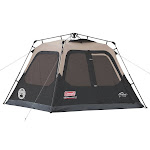 Coleman Instant 4-Person Cabin Tent, Tan/Black