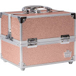 Caboodles Adored 4-Tray Train Case - Rose Gold - Personal Travel Care