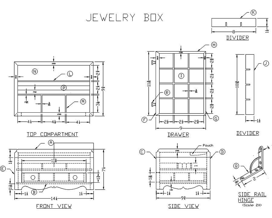 Jewelry Box Plans Woodworking, Jewelry Armoire Design Plans
