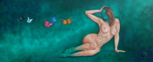 "Guillermo De Rosa en Twitter: """"Thoughts"" - Oil on canvas - 23 x 47in """