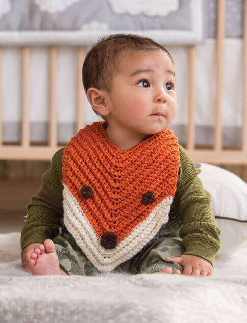 Finley the Fox Bib ... Free Crochet Pattern