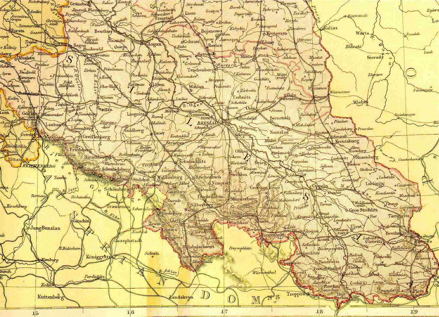 Schlesien Karte Heute.Schlesien Karte Karte