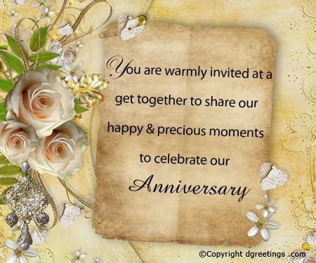 Anniversary Invitation Ideas   Invitation Ideas for