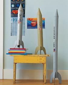 foguete papel reciclado