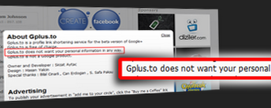 10 Reasons to avoid Gplus.to for your Google plus vanity URL