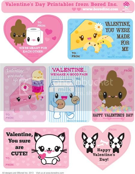 cute valentines day cards tokyobunnie free bored inc s day printable cards 12415
