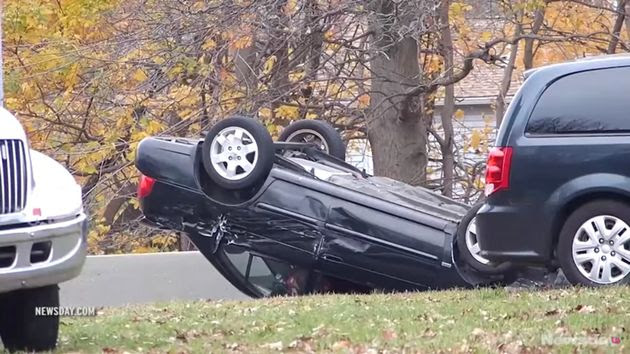"""<span class='image-component__caption' itemprop=""""caption"""">A 25-year-old single mom was struck and killed by a car moments after surviving a rollover car crash in Long Island, New York, on Sunday.</span>"""