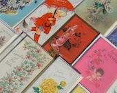 Lot Vintage Assorted Greeting Cards Unused