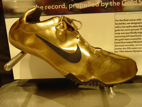 Olympic Gold Medalist Track Star Michael Johnson Started The Shoes Tradition His Custom Made Nike Running Were From A Spun Dupont