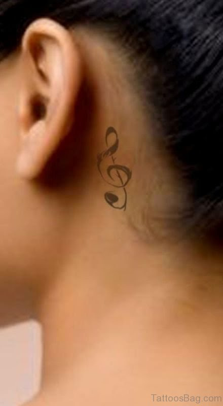 64 Terrific Musical Tattoos On Neck