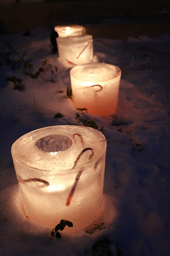 DIY Ice Candle luminaries by Jen Cameron