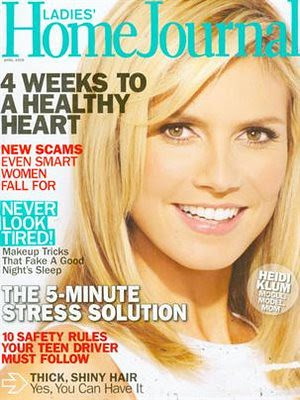 Heidi Klum Ladies Home Journal Magazine by Victoria´s Secret Show