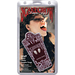 Scarecrow Realistic Deluxe Custom Fangs, White, S
