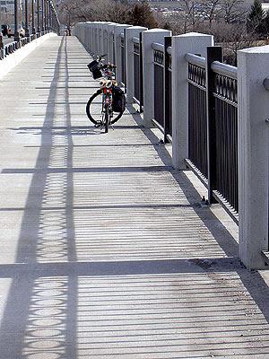 Marin Bicycle on Ford Bridge  February 2006