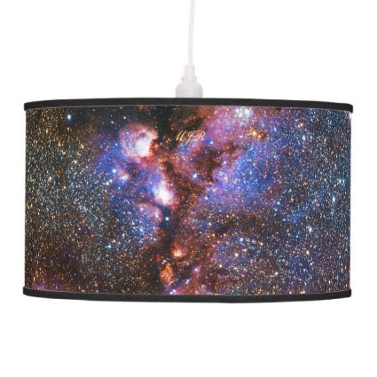 Monogram Cats Paw Nebula in Scorpius space picture Hanging Lamp