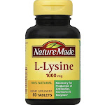 Nature Made L-Lysine, 1000 mg, Tablets - 60 count
