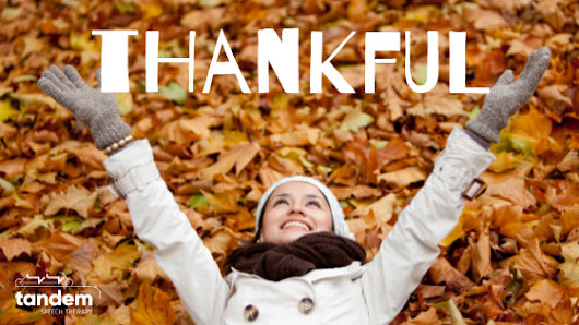 Thankful (A Book Preview) • Tandem Speech Therapy, Austin, TX