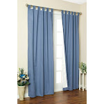 """Weathermate Thermalogic Insulated Tab Top Curtain Panel Pair, Blue, 80"""" W x 84"""" L"""
