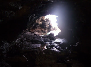 Opening of cave