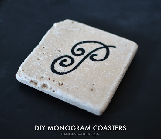 DIY Monogram Coasters | Can Can Dancer