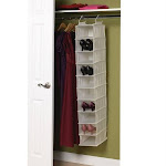 10-Pocket Wide Hanging Organizer-plastic shelves HO19367