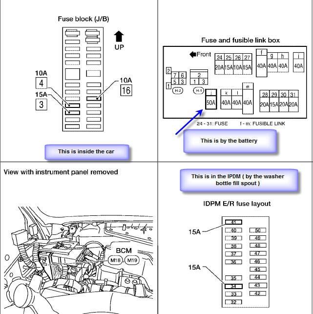 2002 Nissan Quest Fuse Box Diagram - Wiring Diagram Schemas