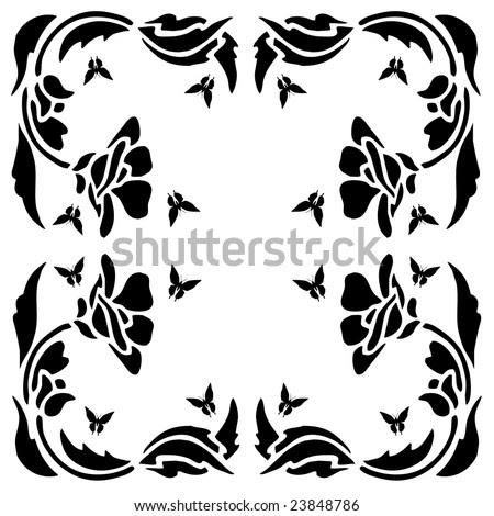 flower clip art. flower clip art black and