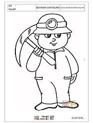 Madenci Boyama Sayfaları