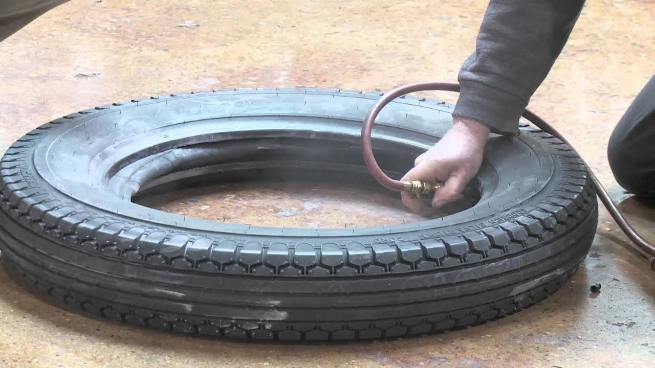 Install An Inner Tube In A Collector Car Tire And Wheel