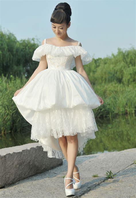 unique vintage white short wedding dress ? Sang Maestro