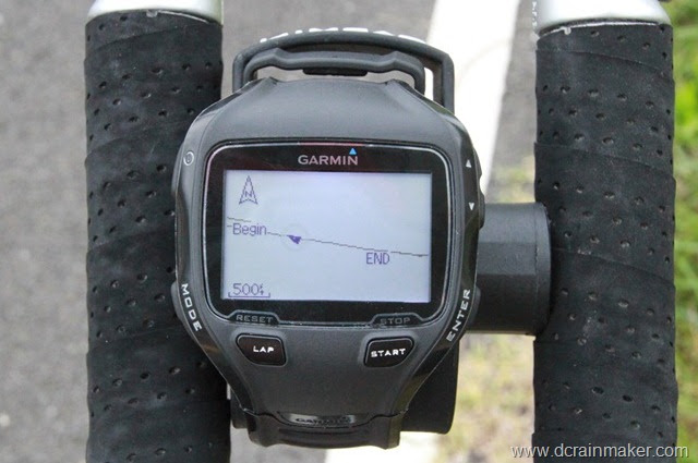 Garmin FR910XT Course Display